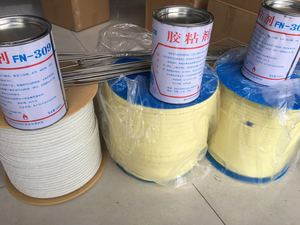 High-temperature glue for ropes